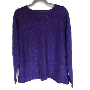 Eileen Fisher Purple Linen Blend Sweater